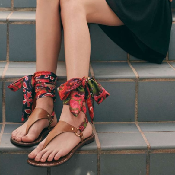 c8c12d80ee8 Sam Edelman Giliana Ankle Tie Thong Sandal NWT